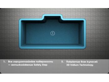 SPLASH размер 3,4х1,8 глубина 1.5 м