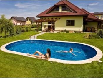 Бассейн Summer Fun овальный длина  7,4 м, ширина 3,6 м, глубина 1,5 м.
