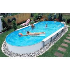 Бассейн Summer Fun овальный длина 11,0 м, ширина 5,5 м, глубина 1,5 м