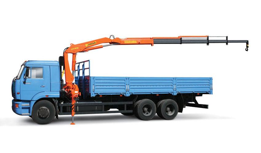 Для перевозки бани-бочки по Крыму лучше всего подходит грузовик с манипулятором