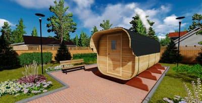 Квадро баня в бочке — мобильная баня от производителя в Крыму и Симферополе